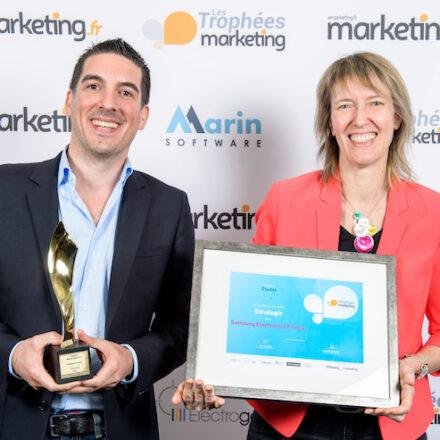 Le Trophée Or des études pour Stratégir et Samsung Electronics France